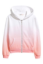 Sweat à capuche zippé - Blanc/rose - ENFANT | H&M FR 2