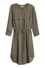 Shirt dress - Dark khaki green - Ladies | H&M 2