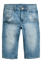 Tapered denim shorts - Denim blue -  | H&M 2