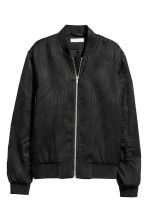Textured bomber jacket - Black -  | H&M 2