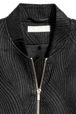 Textured bomber jacket - Black -  | H&M 3