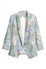 Shawl-collar jacket - White/Floral - Ladies | H&M GB 2