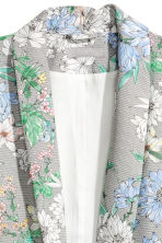 Shawl-collar jacket - White/Floral - Ladies | H&M GB 3