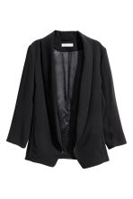 Shawl-collar jacket - Black - Ladies | H&M 2