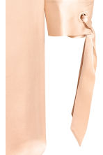 Silk shirt dress - Light beige - Ladies | H&M 2