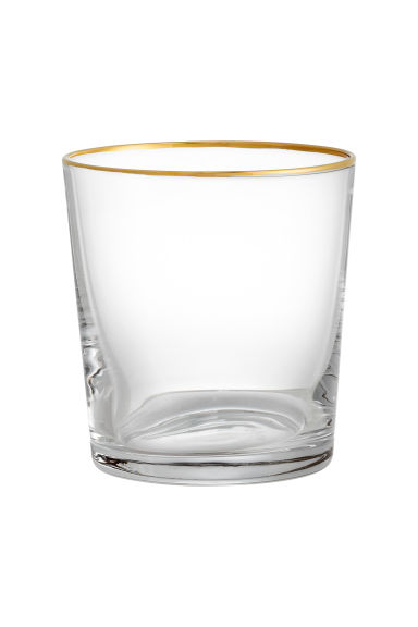 Glass - Clear glass/Gold - Home All | H&M GB 1