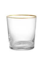 Glass - Clear glass/Gold - Home All | H&M CN 1