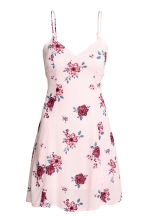 Crêpe dress - Powder pink/Floral - Ladies | H&M CN 2