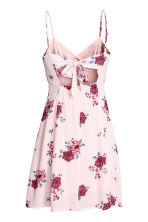 Crêpe dress - Powder pink/Floral - Ladies | H&M CN 3