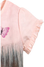 Jersey top - Light pink/Horses - Kids | H&M 3