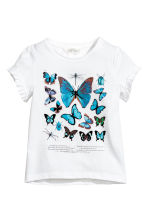 Jersey top - White/Dragonfly -  | H&M 1