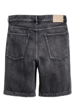 Denim shorts - Black washed out - Men | H&M CN 3