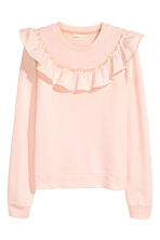 Sweatshirt with a frill - Powder pink - Ladies | H&M 2