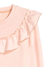 Sweatshirt with a frill - Powder pink - Ladies | H&M 3