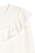 Sweatshirt with a frill - White - Ladies | H&M 3