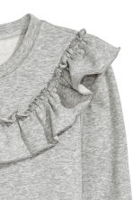 Sweatshirt with a frill - Grey marl - Ladies | H&M 3