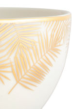 Printed porcelain bowl - White/Palm leaf - Home All | H&M GB 3