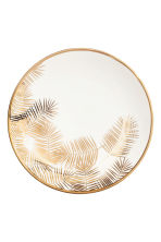Assiette en porcelaine - Blanc/feuille de palmier - Home All | H&M FR 2
