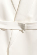Satin belted jacket - White - Ladies | H&M CA 3