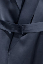 Satin belted jacket - Dark blue - Ladies | H&M 4