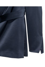 Satin belted jacket - Dark blue - Ladies | H&M 3