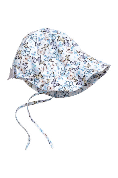 Sun hat - White/Butterflies - Kids | H&M 1