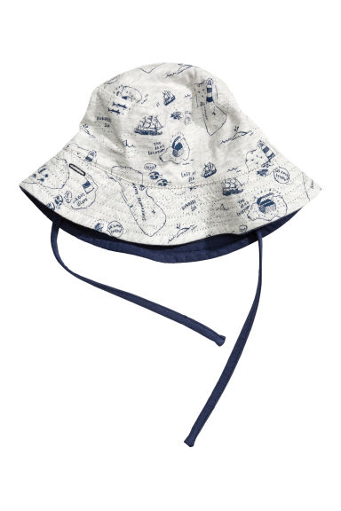 Reversible sun hat - Light grey marl - Kids | H&M