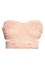 Lace bandeau bra - Powder - Ladies | H&M 1