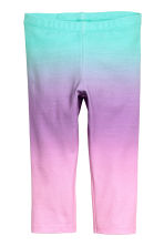 Jersey leggings - Turquoise/Purple -  | H&M 2