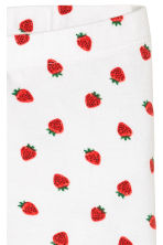 Jersey leggings - White/Strawberries -  | H&M 3