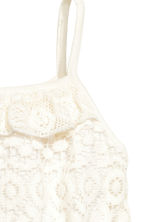 Lace playsuit - Natural white - Kids | H&M 3