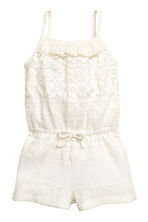 Lace playsuit - Natural white - Kids | H&M 2