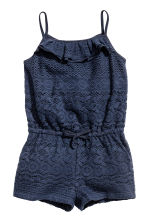 Lace playsuit - Dark blue -  | H&M CN 1