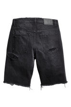 Trashed Denim shorts - Black denim - Men | H&M 3