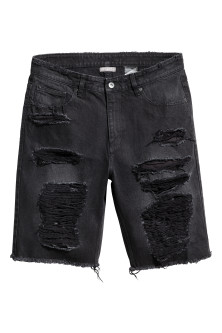 Trashed Denim shorts
