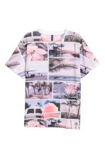 Patterned T-shirt - Light pink - Men | H&M CN 2