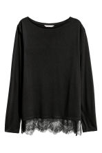 Long-sleeved top - Black - Ladies | H&M 2