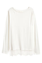 Long-sleeved top - White - Ladies | H&M CN 2