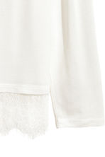 Long-sleeved top - White - Ladies | H&M CN 3