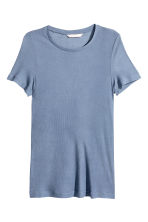 Silk-blend top - Dusky blue - Ladies | H&M CN 2