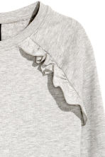 Sweatshirt with frills - Grey marl - Ladies | H&M 3