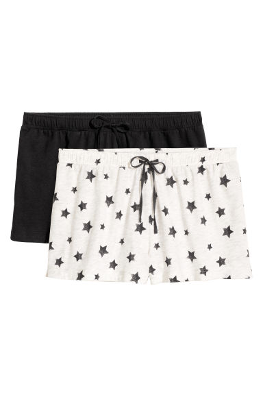 2-pack pyjama shorts - Black/Stars - Ladies | H&M 1