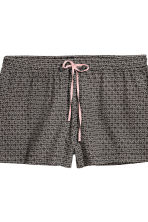 2-pack pyjama shorts - Powder/Black patterned - Ladies | H&M 2