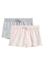 2-pack pyjama shorts - Grey/Pink striped - Ladies | H&M 2