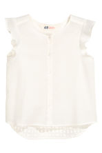 Blouse with butterfly sleeves - White - Kids | H&M CN 2