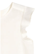 Blouse with butterfly sleeves - White - Kids | H&M CN 3