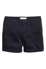 Cotton shorts - Dark blue - Ladies | H&M CN 2