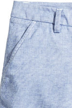 Cotton shorts - Blue/White/Striped - Ladies | H&M 3