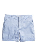 Cotton shorts - Blue/White/Striped - Ladies | H&M 2
