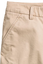 Cotton shorts - Light beige - Ladies | H&M 3